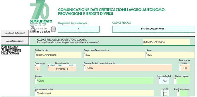 Modello 770 semplificato se certificazione autonomi - Certificazione lavoro autonomo provvigioni e redditi diversi nel 730 ...