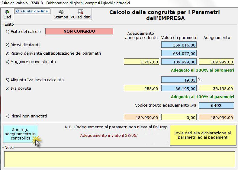 Funzioni della gestione adeguamento parametri for Aliquote iva in vigore