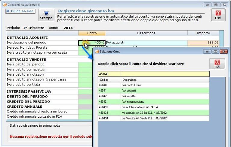 9 1 3 registrazione automatica del giroconto iva for F24 elide prima registrazione