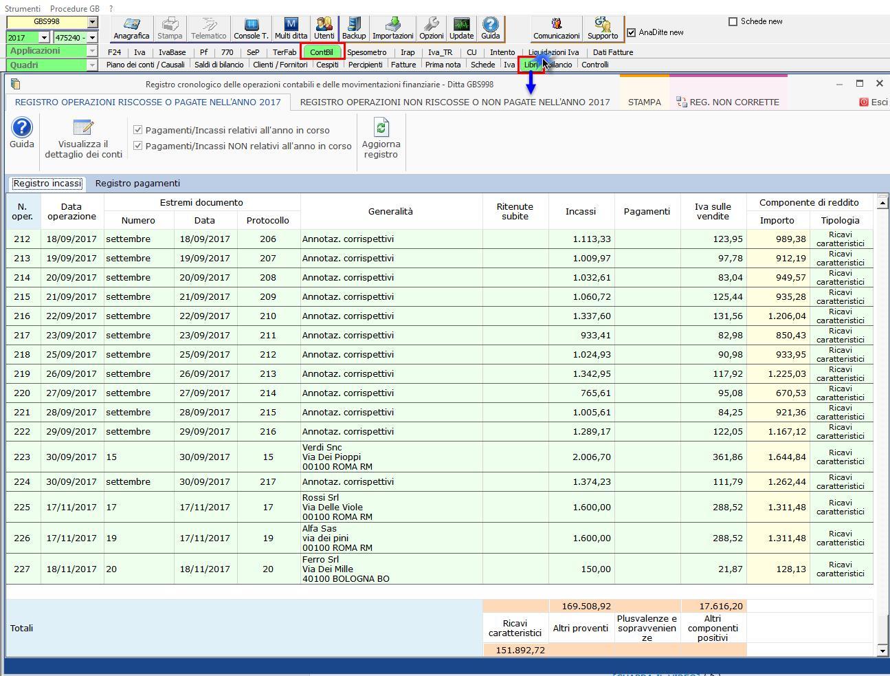 """4e3ad5944f Il registro da stampare, per chi opta per la 1° opzione, è quello degli  incassi e dei pagamenti che si trova nella sezione """"Libri""""  dell'applicazione """" ..."""