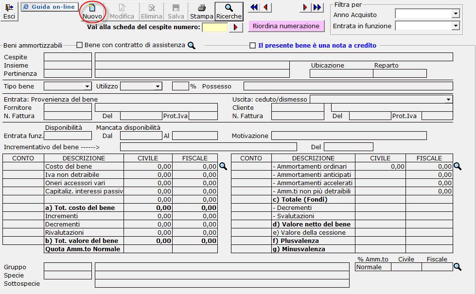 4 2 1 beni materiali for Registrazione preliminare di vendita