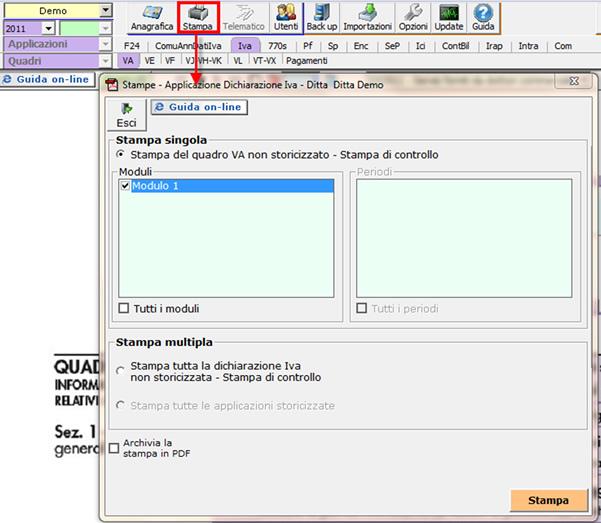 47328d2cf1 Dalla gestione che si apre scegliere se effettuare una stampa singola o  multipla.