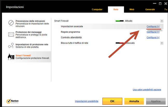 Firewall: Firewall Norton