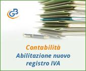 Contabilità: abilitazione di un nuovo registro IVA