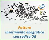Fatture: inserimento anagrafica con codice QR