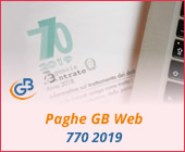 Paghe GB Web: Modello 770 2019